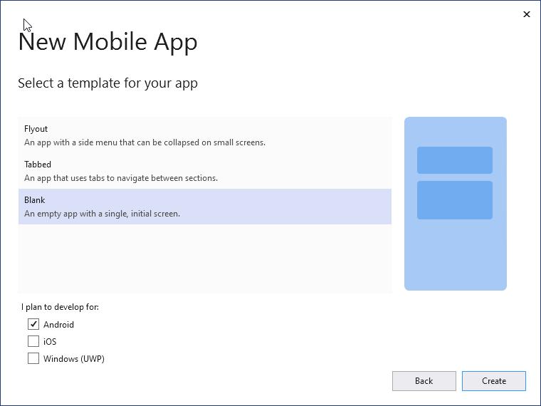 Create an empty app
