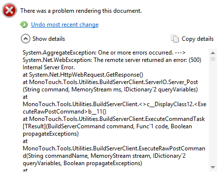 There was a problem rendering this document, The remote server returned an error: (500) Internal Server Error, ServerIO.Server_Post()