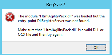 Loaded But The Entry-point Dllregisterserver Was Not Found
