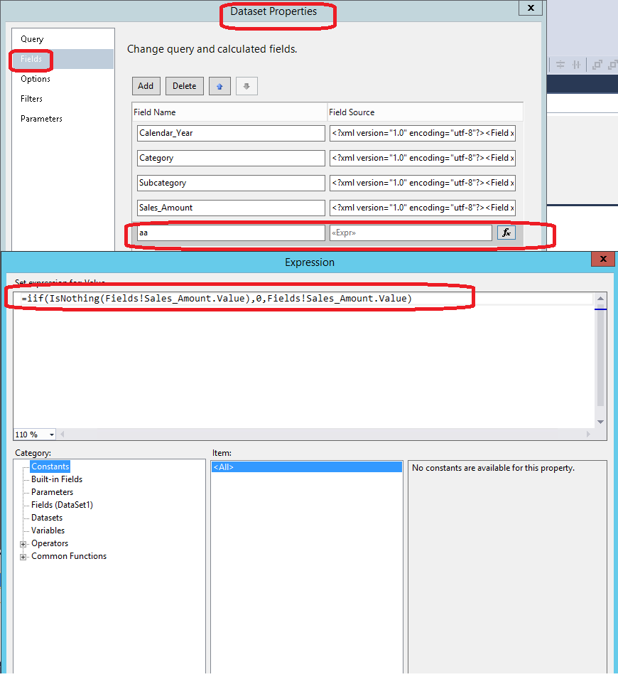 Mdx help ssrs query designer mdx operator filter expression for Query design window