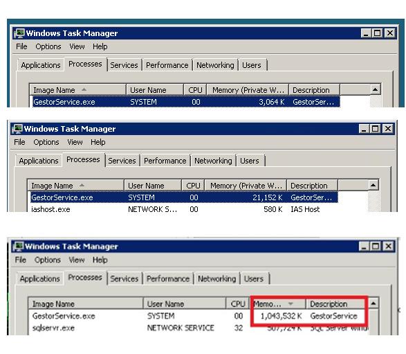 RPC client call memory leak Win Server 2008 32 bits