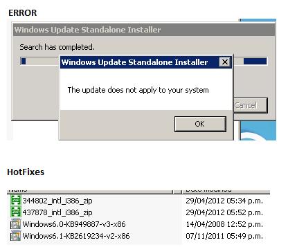HotFixes Fail Update