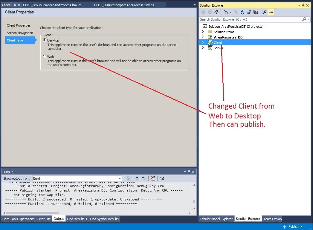 Change Client to Desktop