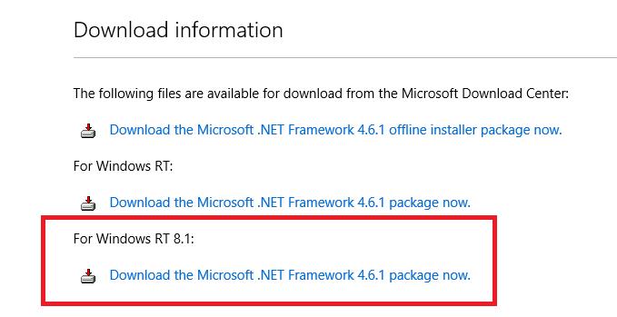 microsoft .net framework 4.6 offline installer