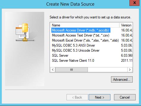 ODBC MICROSOFT TEXT DRIVERS