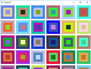 Screen shot of a program Draw Quilt 0.1