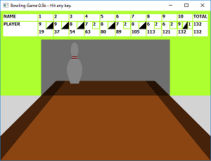 Screen shot of a program Bowling Game 0.5b