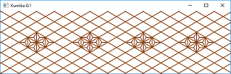 Screen shot of a program Draw Kumiko 0.1