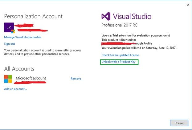 Can I upgrade from VS2017 Community Edition to a paid-for