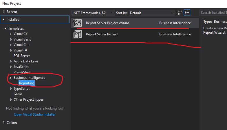 Reporting Template Component (RDLC) not available in Visual