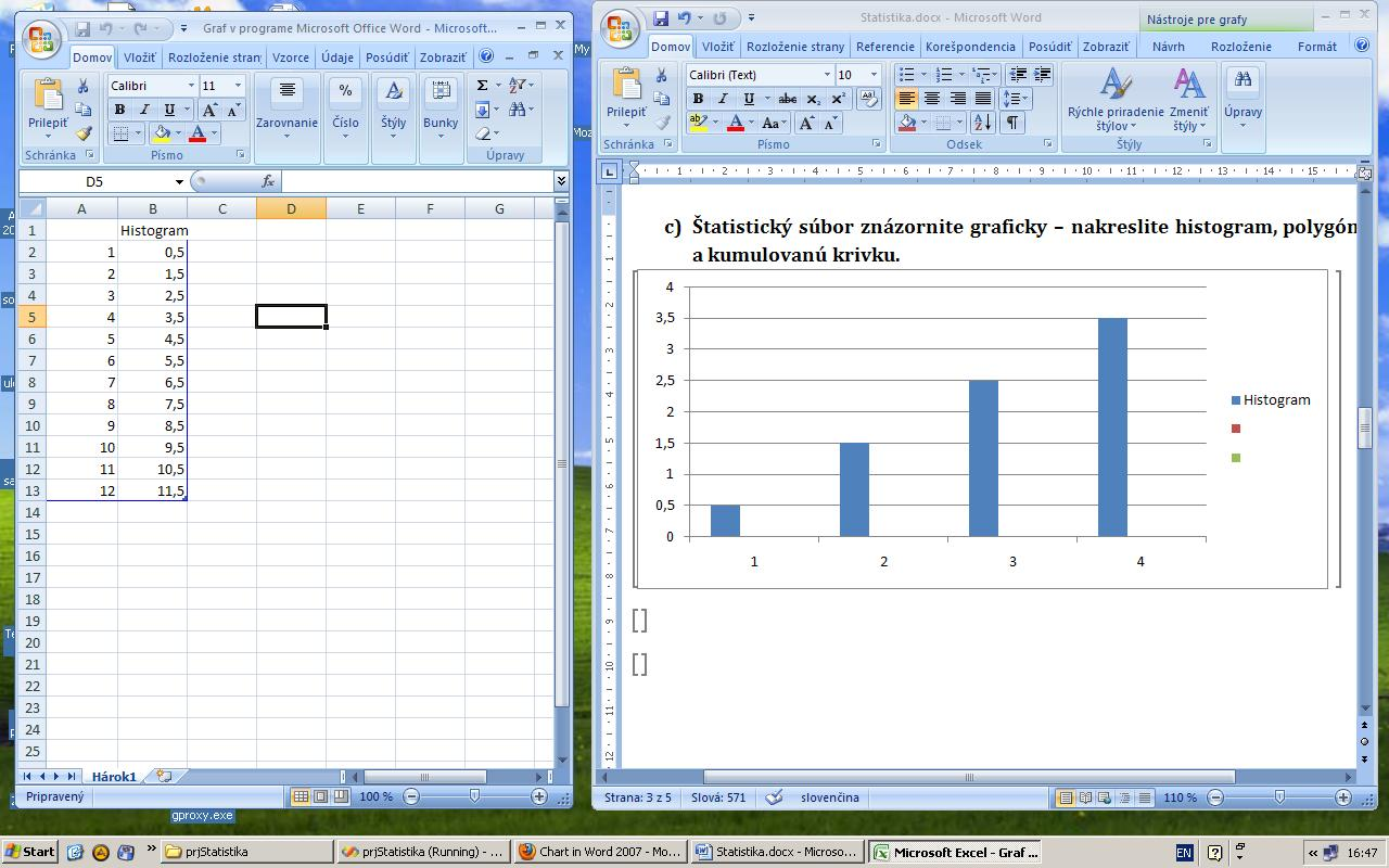 Excel chart in Word 2007 – How to Make a Chart in Word