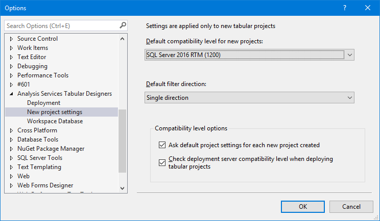 Report Designer settings in VS 2017