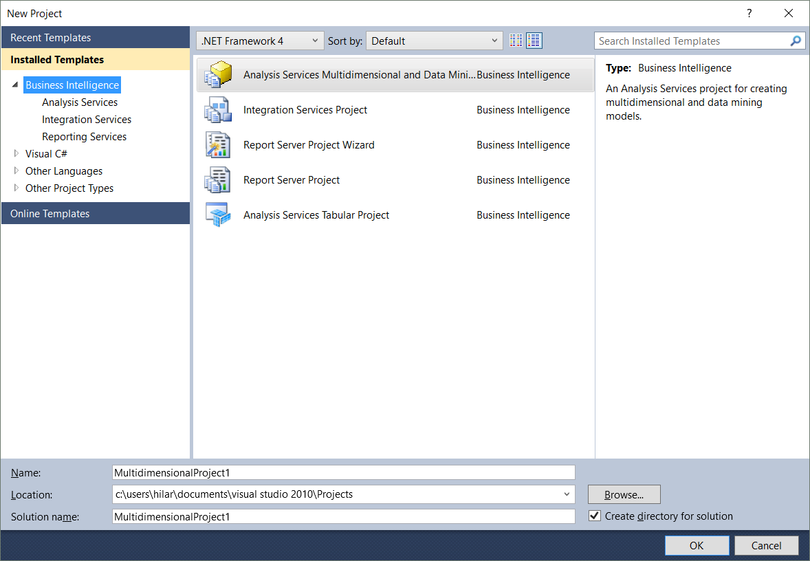 Pls help me to see ssisasrs in visual studio 2010 this should be in the business intelligence templates friedricerecipe