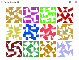 Screen shot of a program Avatar Generator 0.2