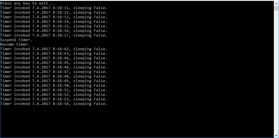 System Threading Timer stuck from computer awake from sleep