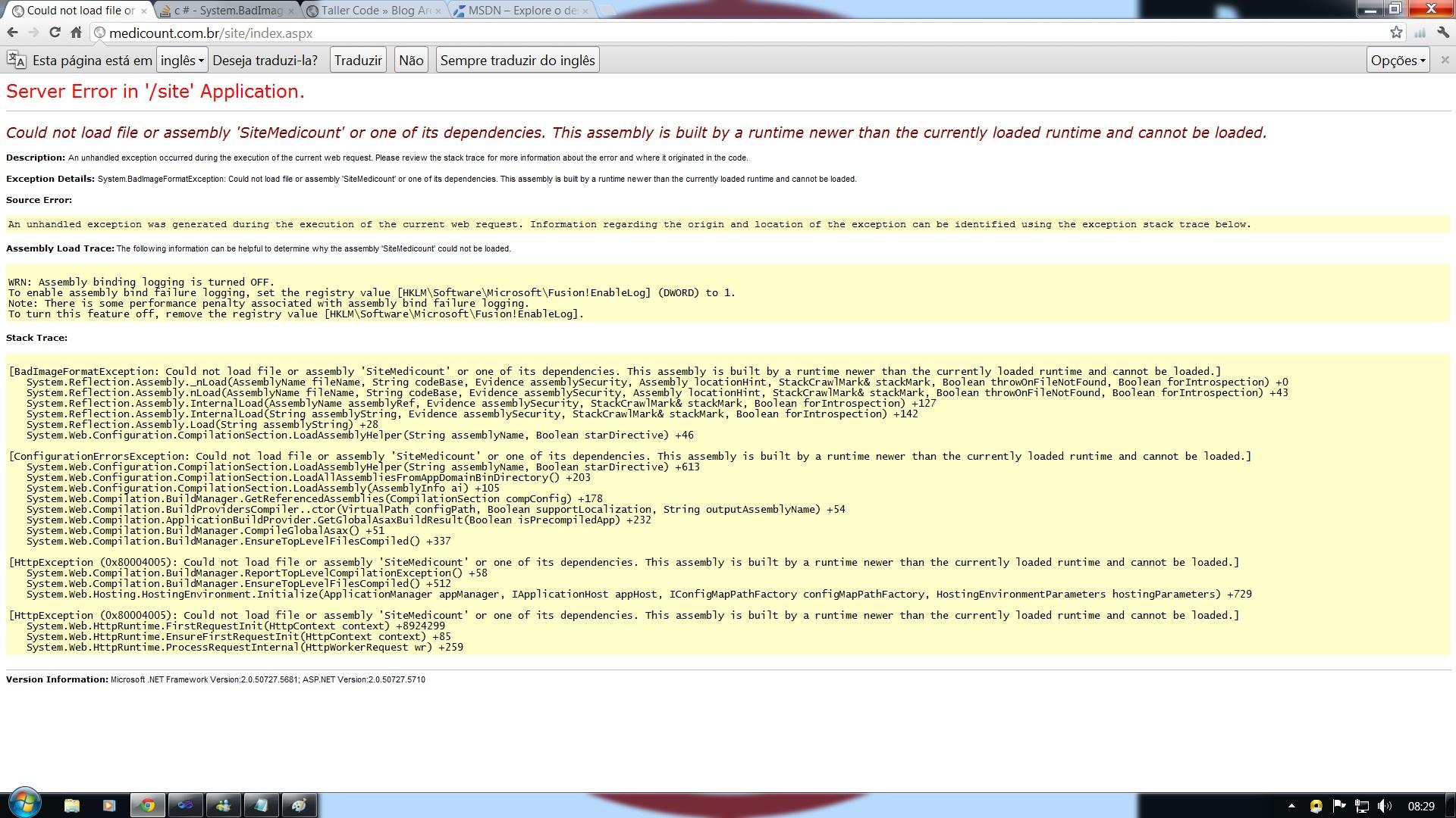 Error WebConfig