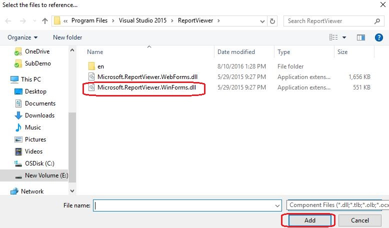 Microsoft reporting winforms reportviewer is not defined for Window is not defined