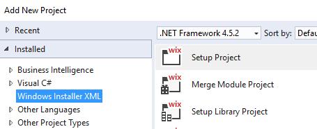 Windows Installer XML