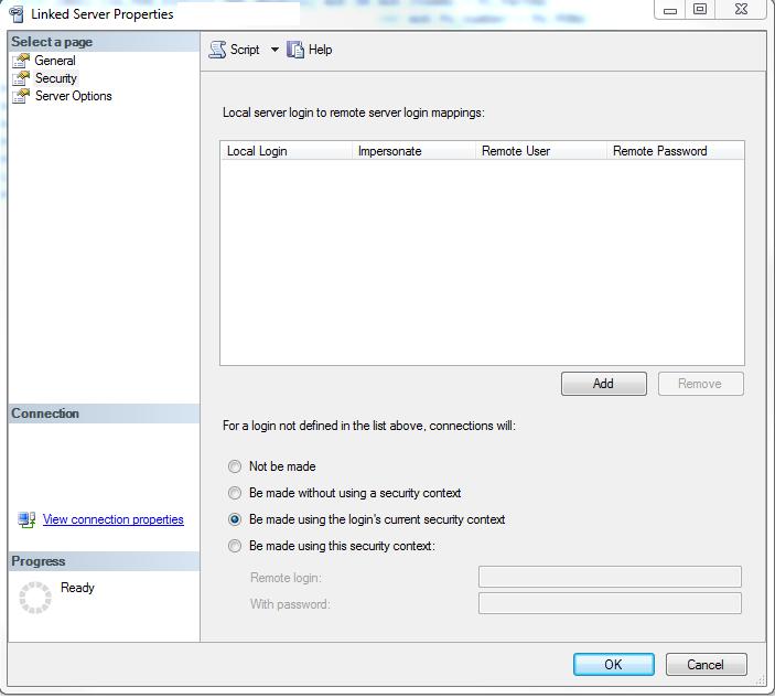 Linked Server Setup and SQL Agent Job execution