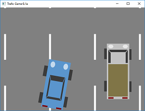 Screen shot of a program Trafic Game 0.1a