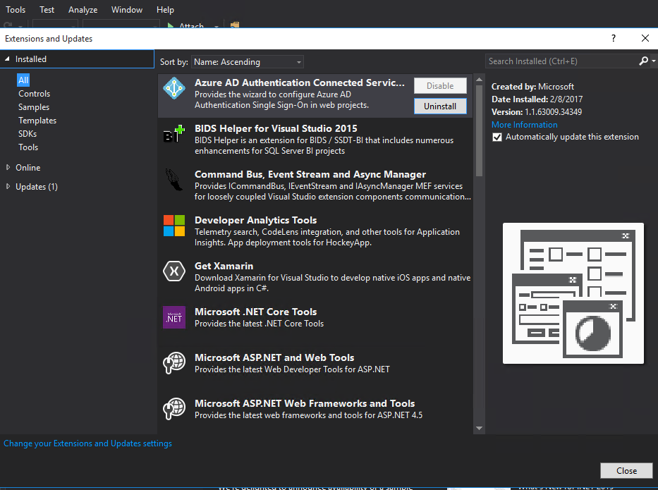 Visual Studio Explorers And Designers Package