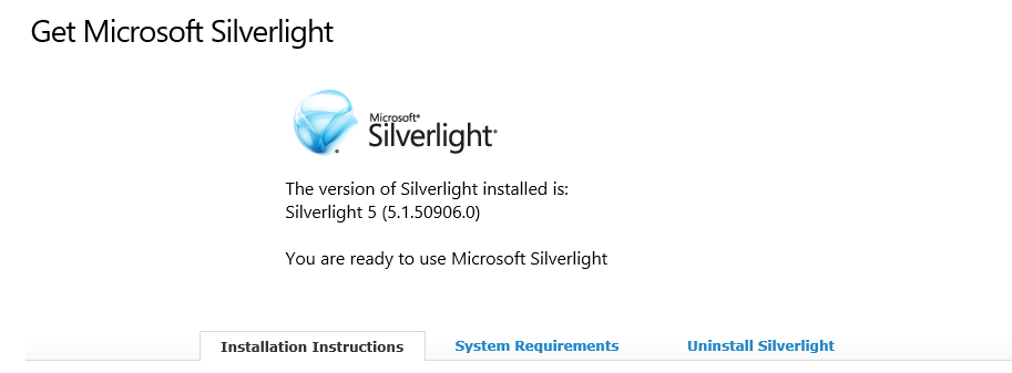 Silverlight installed, but Firefox and IE still ask to install