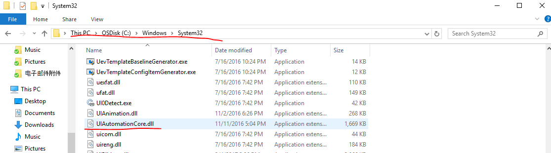 UIAutomationCore dll could not be added Please make sure