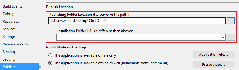 clickonce online cache locations
