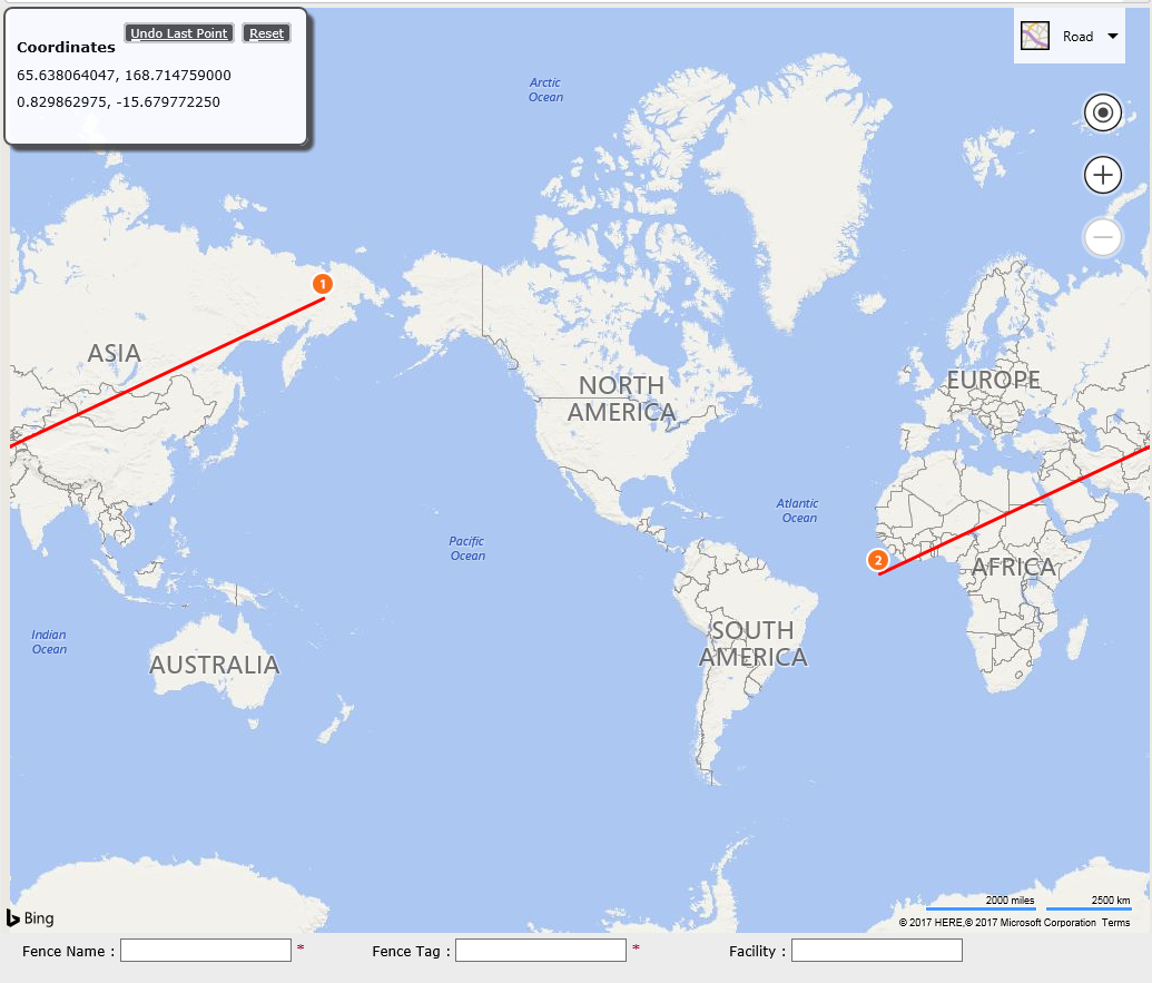Bing Maps V Draw Polyline Between Two Points - Microsoft world map