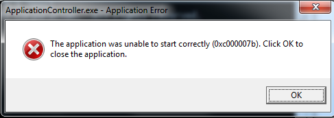 64bit application was unable to start correctly (0xc000007b) ?