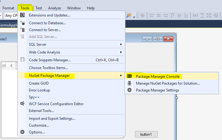 How to add reportviewer control in visual studio 2017 vb  net
