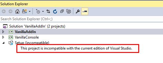 OneNote Vanilla Addin - Build Project - Desktop 2016
