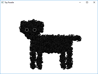 Screen shot of a program Toy Poodle