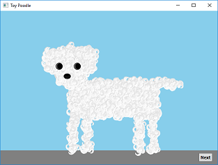 Screen shot of a program Toy Poodle 0.3