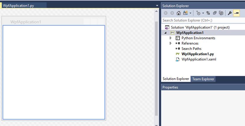 Forms designer in Visual Studio 2017 CE for Python