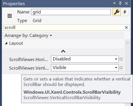 UWP][XAML]How let Grid control show vertical scrollbar?