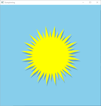 Screen shot of a program Sunspinning (modified version)