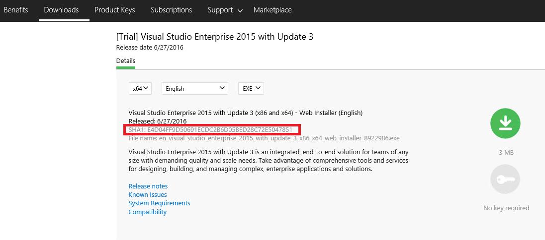 visual studio 2015 enterprise product key free