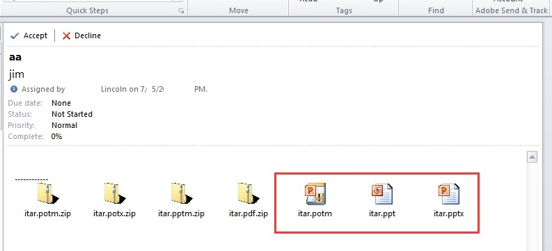 Multiple files to zip as attachment of TaskRequestItem
