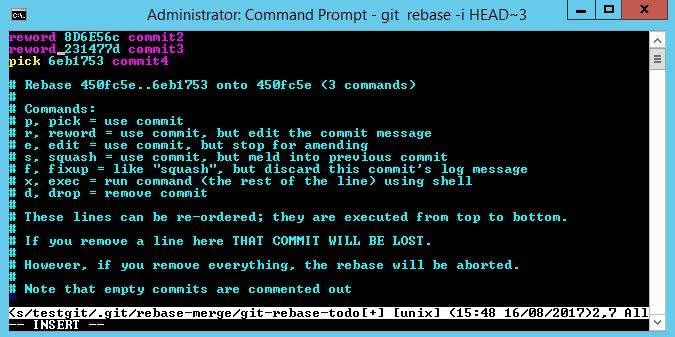 git change commit message