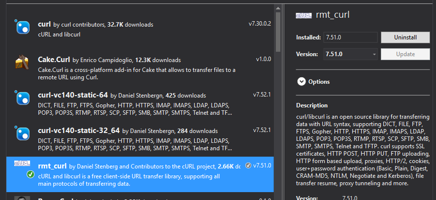 C++ Visual Studio 2015 how to include nuget package in my project?