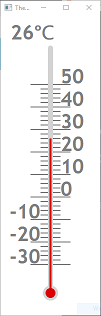 Screen shot of a program Thermometer 0.2