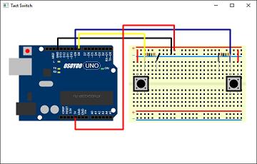 Screen shot of a program Tact Switch