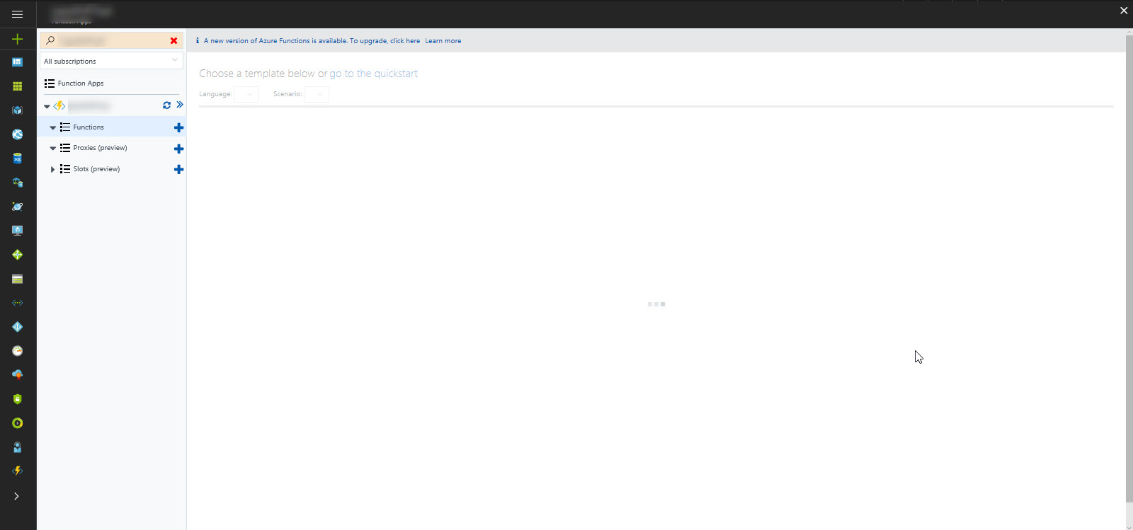 Unable To Create Custom Azure Function