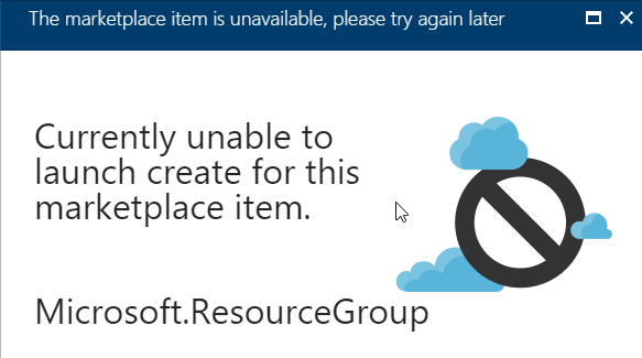 Resource Group creation/deletion failures