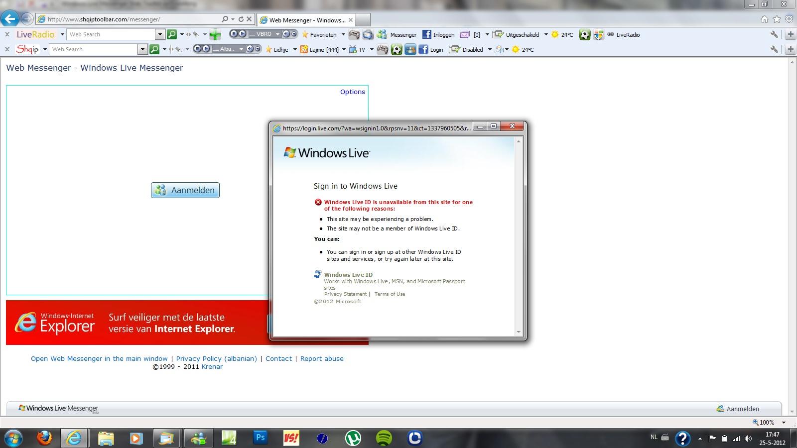 Windows Live Messenger Sign In