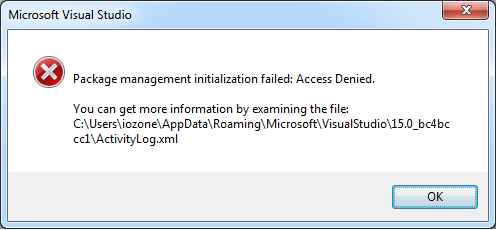 Can't open VS 2017 after installing RDLC designer extension