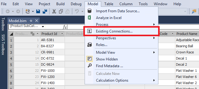 After Deployment Model to SSAS 2016 Could not see any Connection