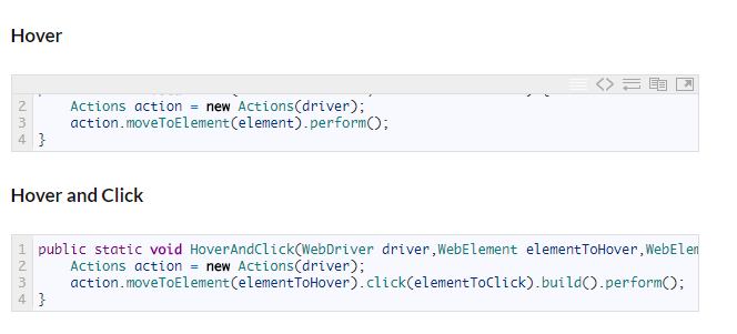 Mouse actions in Selenium with C#
