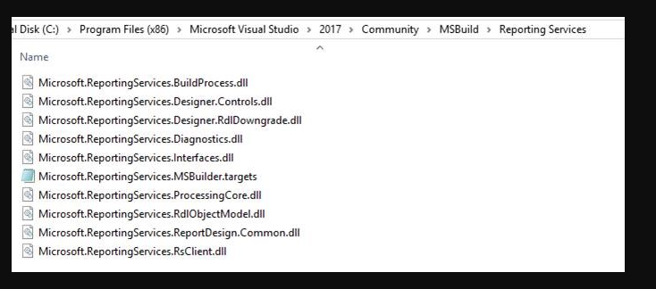 SOLVED: MSBuild failing with report projects